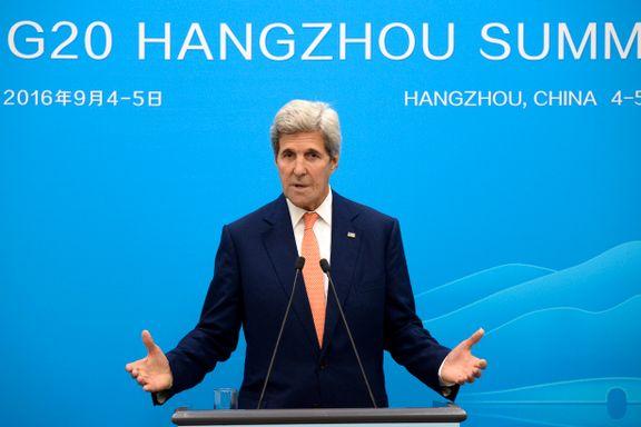 USA: – Ingen enighet om Syria-avtale på G20-møte