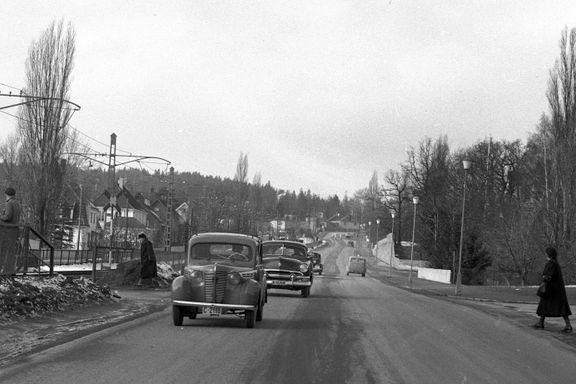 Det er veien til Nordmarka. Men i mange år hadde den ikke navn i det hele tatt.