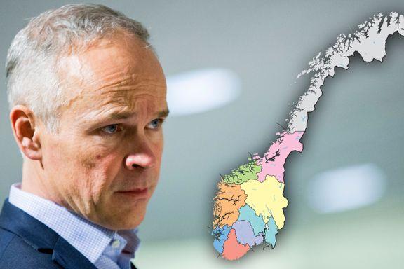Så mange fylker forsvinner i Norges nye regionkart