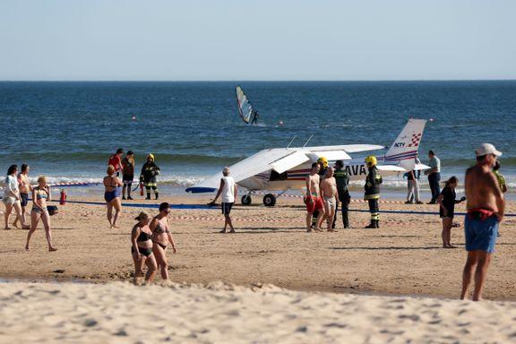 Medier: Minst to døde da småfly nødlandet på strand i Portugal
