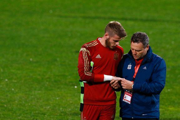 United-keeper skadet på Spania-trening