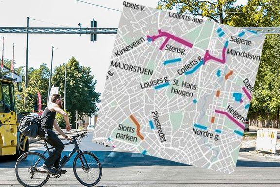 Se hvor det skal tilrettelegges for sykling i Oslo i år