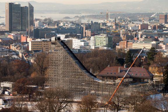 Denne Oslo-bakken kostet 12 millioner. Den ble brukt i fire-fem dager.