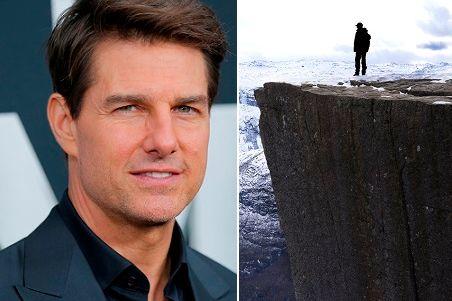 Rigger opp fem hus og to toaletter på Preikestolen.Nå kommer Tom Cruise og Hollywood til Lysefjorden.