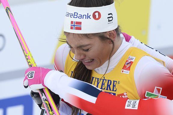 Norges supertalent falt på oppløpet. Etterpå måtte hun tørke tårene