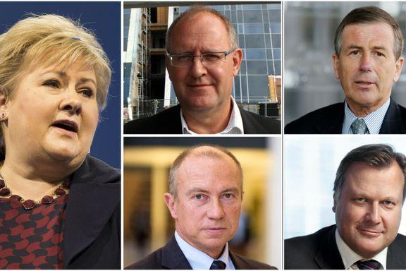 33 av 42 toppsjefer i statens heleide selskaper tjente mer enn Erna Solberg