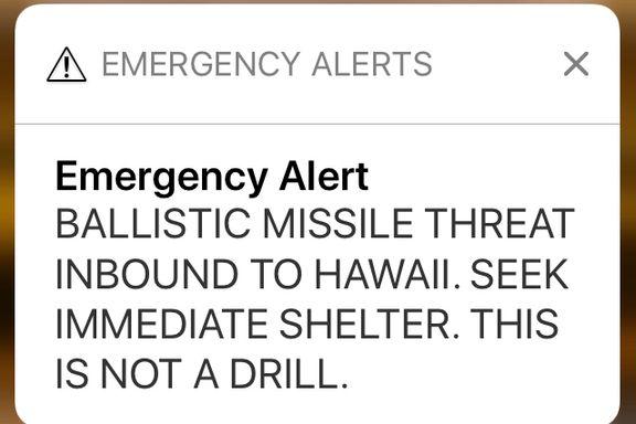 Myndighetene i Hawaii beklager etter missilvarsel