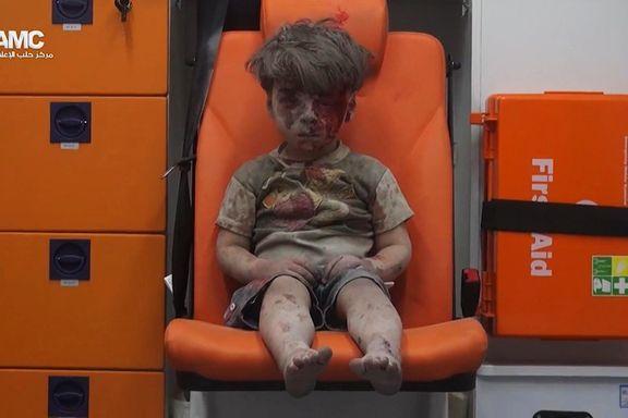 Omran (5) ble symbolet på Syria-krigen. Nå har han dukket opp på syrisk TV som Assad-tilhenger.