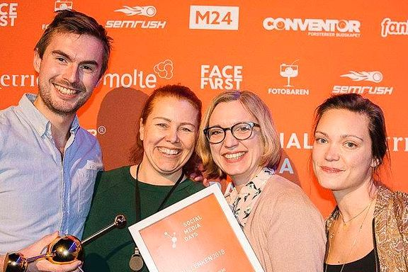 Sosiale medier-pris til Aftenposten og #metoo-kampanjen