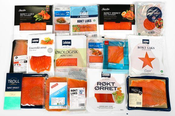 Ernæringstest av røkt laks og ørret: Stor forskjell på saltinnholdet