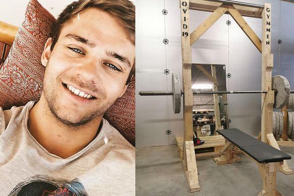 Slik bygde Joakim sitt eget treningsstudio til 1500 kroner