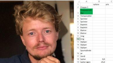 Et Excel-ark hjalp Jørgen (30) til seier i det populære spillet i 2018. Dette er hans råd og tips.