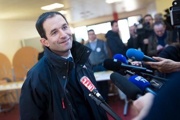 Sosialisten Hamon overrasket i fransk nominasjonsvalg