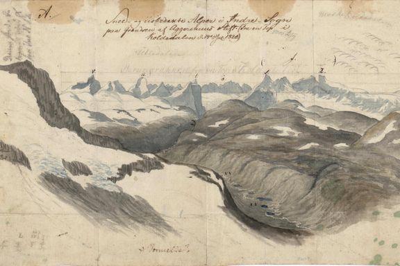 Det var en sensasjon da to studenter dokumenterte deler av Jotunheimen i 1820
