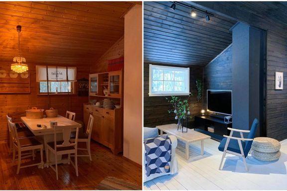 Totalforvandlet hytta for 25.000 kroner