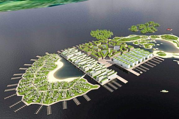Går til valg på å lage kunstige badeøyer: Slik kan Høyres sommerparadis bli i Oslofjorden