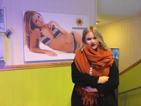 LEDER PRESS I BERGEN: Lea Mariero (18) leder Press i Bergen. Solstudio-kjeden Brun og Blid er blant dem ungdommer i Norge mener er gode på å få dem til å føle deg dårlige.