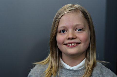 INTERESSERT I POLITIKK: Aksel (11) er juniorreporter i BT Junior.
