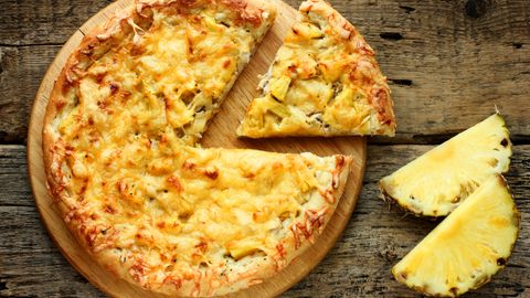 KONTROVERSIELL: «Hawaiian pizza». En vederstyggelighet, mener noen. En delikatesse, mener Lasse Lambrechts.