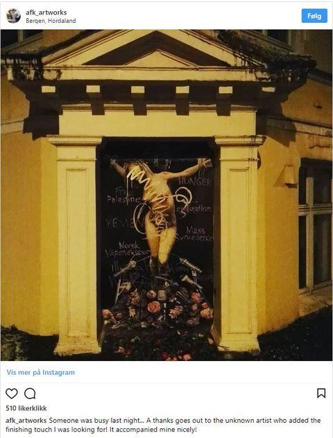 Skjermdump fra Instagram-profilen til kunstneren AFK