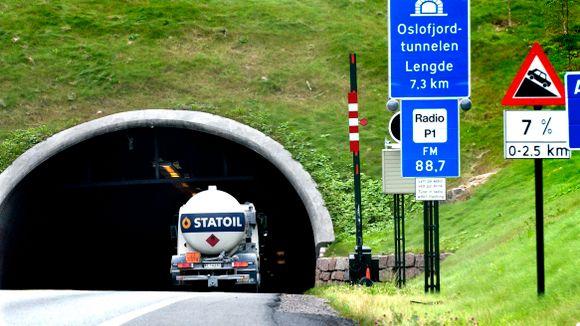 Er oslofjordtunnelen stengt