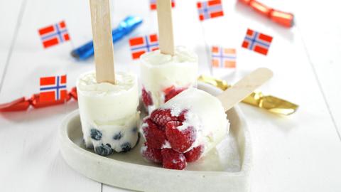 IS: Mange spiser masse is på 17. mai! Kanskje du kan lage yoghurtis og spise det?