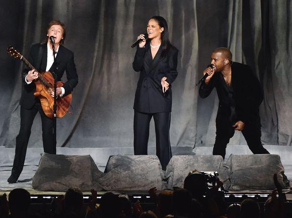 3138a5ab Paul McCartney og Rihanna er bare noen av artistene Kanye West har  samarbeidet med. Her fra årets Grammy-utdeling i Los Angeles.