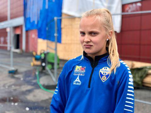 HÅNDBALLSPILLER: Hver uke trener Emilie Nicholine vanligvis tre til fire ganger i Framohallen. Etter planen skulle Fyllingen J06 starte med treninger i midten av august, men det ser mørkt ut.