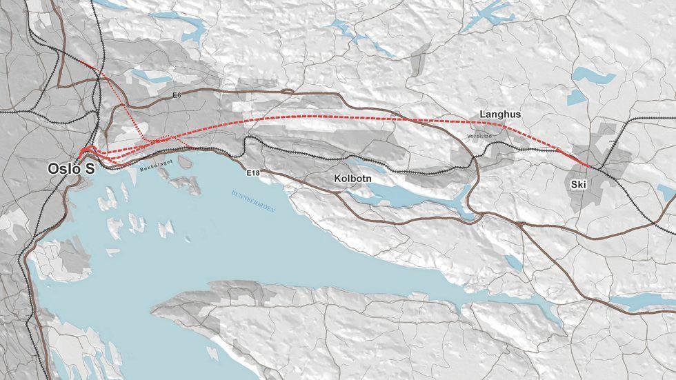 follobanen kart Tunnel viktigere enn energibrønner   Aftenposten follobanen kart