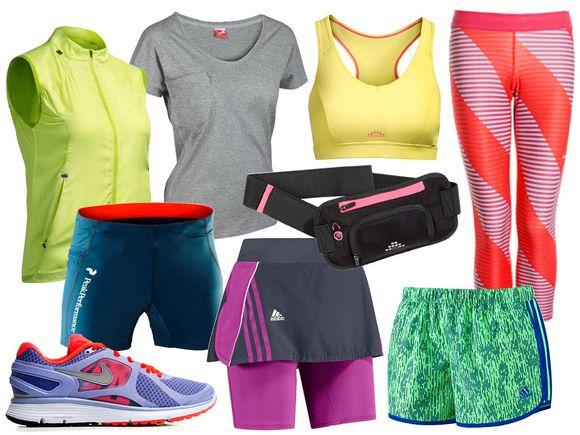 25fc3a79 <b>Løping:</b> Vest fra H&M kr 249, t-skjorte fra Puma kr 250, sports-bh fra  H&M kr 199, tights fra Nike kr 500, shorts fra Peak Performance kr 500, ...
