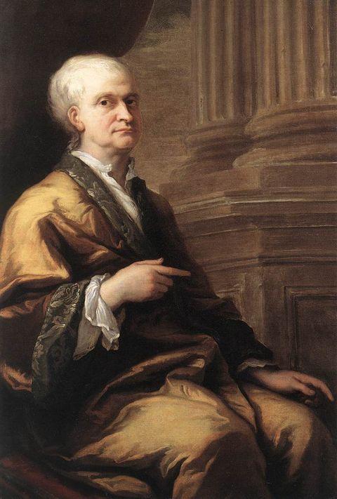 SØLVREV: Isaac Newton oppdaga tyngdekrafta, og blei grå i håret tidleg. ARTIST: James Thornhill