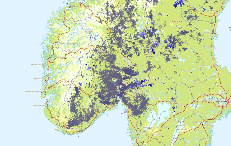 kart lynnedslag norge Skogbranner mange steder på Sør  og Østlandet: – Vi har aldri  kart lynnedslag norge