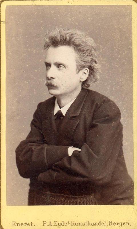 <strong>EDVARD GRIEG:</strong> Dette fotografiet er frå rundt 1880. Det er på denne tida han møter ein ung, norsk sopran i Lucinda Rileys roman. Foto utlånt av Troldhaugen Edvard Grieg Museum.