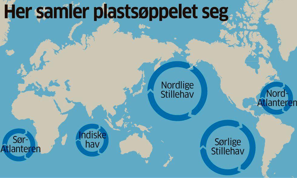 kart over verdenshavene Plast dreper én million sjøfugl hvert år   Aftenposten kart over verdenshavene