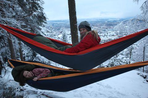 Billig overnatting, inkludert fnising og fjordutsikt, på en kolle i Oslo.