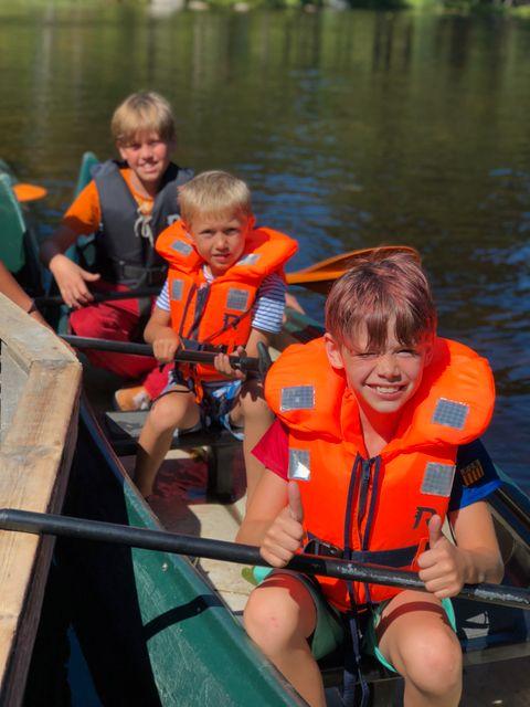 Birger, Orlando og Jørgen fant seg fort til rette på vannet.