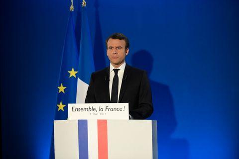PRESIDENT FRA 17. MAI: Emmanuel Macron blir ny president i Frankrike fra 17. mai.