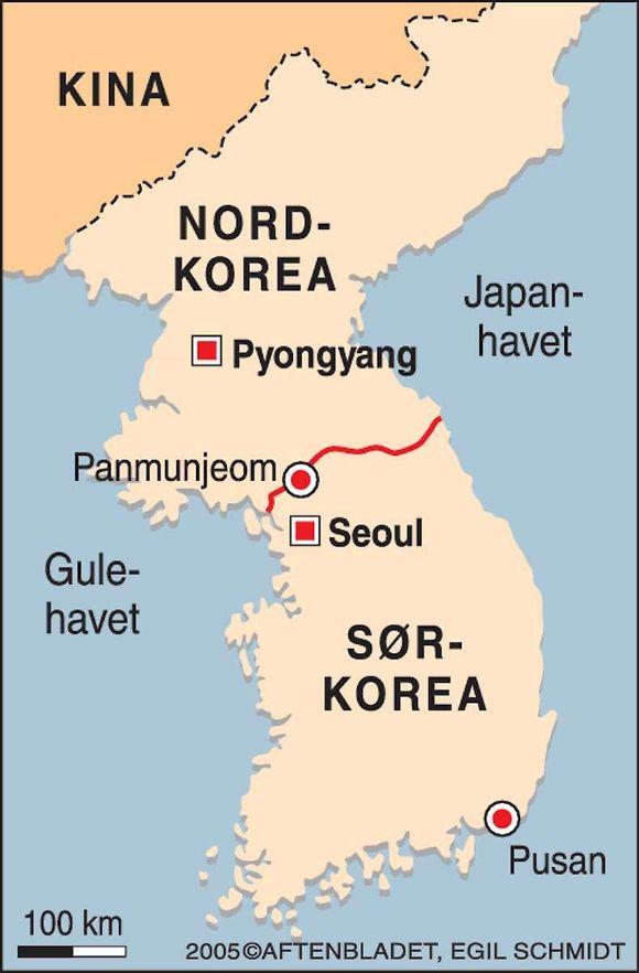 kart over nord og sør korea Derfor koker Korea igjen   Aftenbladet.no kart over nord og sør korea
