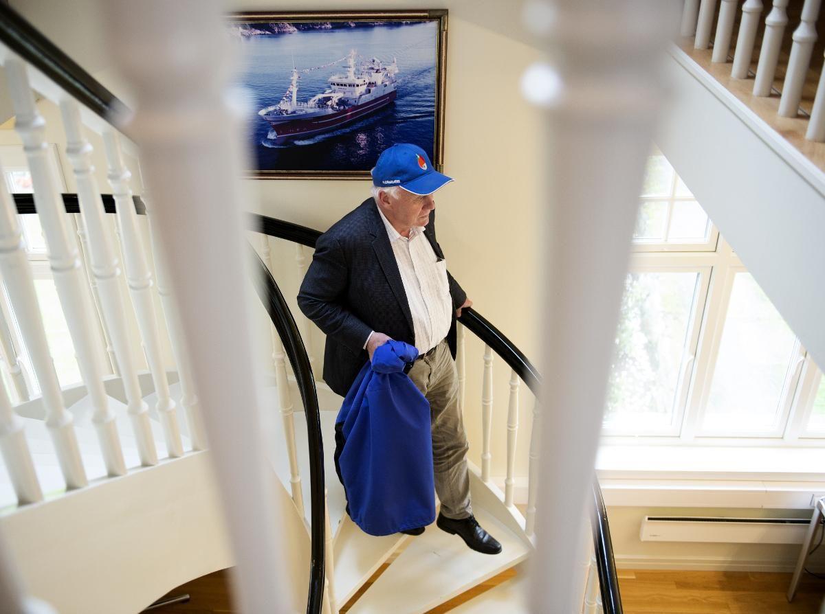 HANDELSSLEKT: Inge Halstensen er fjerde generasjon Halstensen i Bekkjarvik. Familiebedriften går bra, og familien sitter på milliardverdier. Men Halstensen er opptatt av å gi tilbake til lokalsamfunnet. Han husker dessuten tilbake til en tid da det å være fisker på Austevoll ikke var like attraktivt.