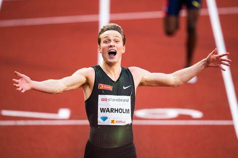 Karsten Warholm overrasket seg selv da han løp inn til ny Europa-rekord på 400 meter hekk med tiden 47,33.