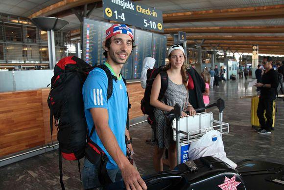ab0ad001 Firas Al-Hmood (t.v.) og Anond Al-Awamleh reiser verden rundt for å  konkurrere innen triatlon, men føler seg trygge.