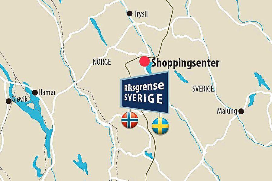 långflon kart Kjøpesenter strid helt på grensen   Aftenposten långflon kart