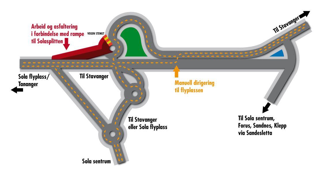 solasplitten kart Asfaltering i Flyplassvegen i kveld   Aftenbladet.no solasplitten kart
