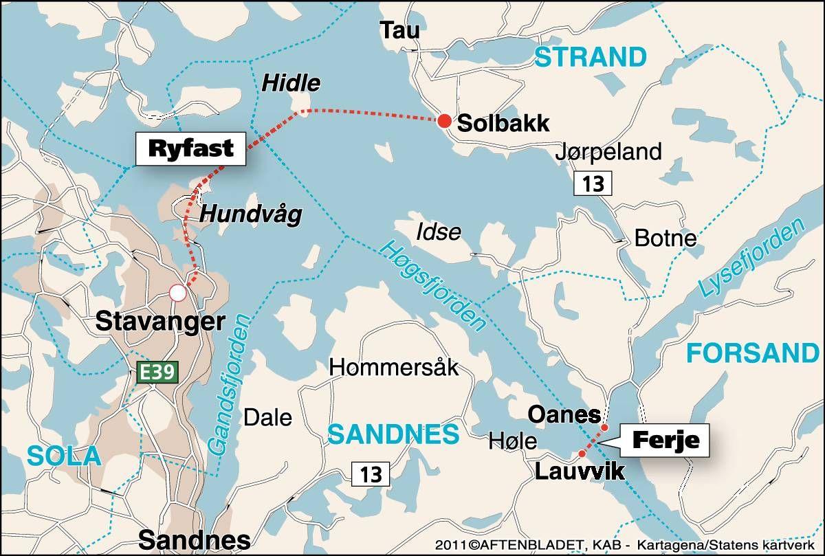 ryfast kart Siste slaget om Ryfast   Aftenbladet.no ryfast kart