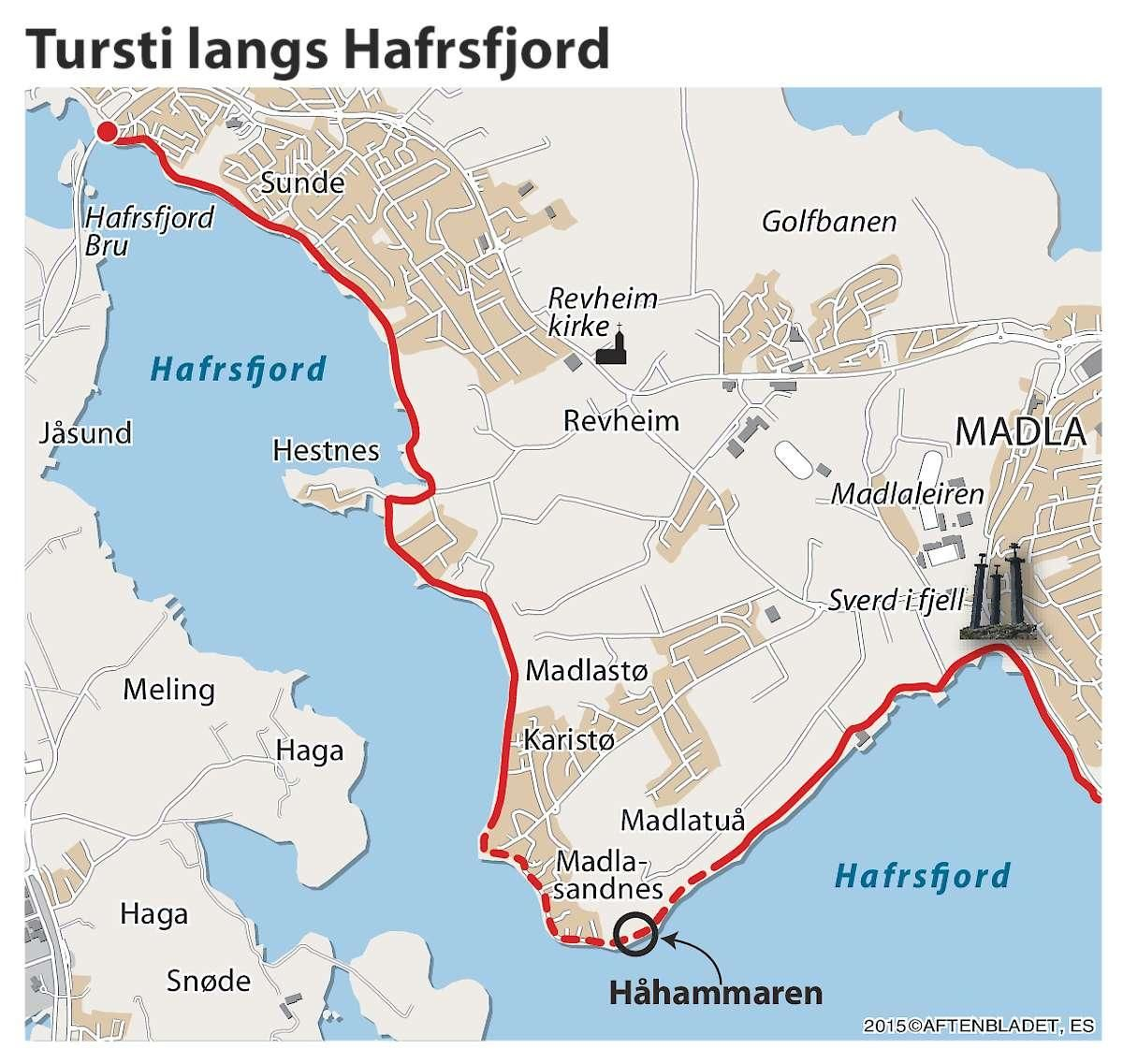 kart hafrsfjord Ett steg nærmere tursti rundt hele Hafrsfjord   Aftenbladet.no kart hafrsfjord
