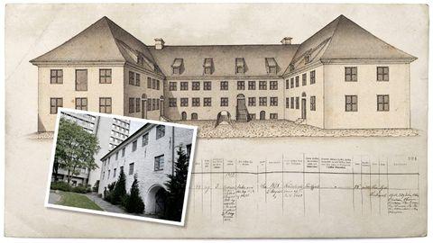BERGEN TUKTHUS: I ni år sona Inger Oline på straffeanstalten i Bergen sentrum. I dag er bygningen, også kjend som Manufakturhuset, eigd av Bergen kommune.