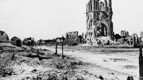 Ypres i Belgia etter krigen, tredje etappe gikk gjennom denne byen.