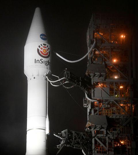 SKUTT OPP: «InSight» ble skutt opp fra jorden med en rakett.