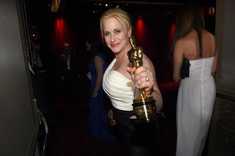 Patricia Arquette: Ba om lik lønn og rettigheter for nasjonens kvinner da hun vant Oscar tidligere i år.