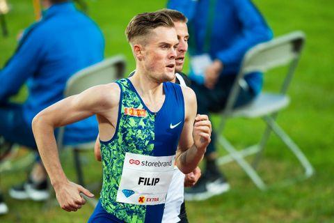Filip Ingebrigtsen ble nummer ni på Drømmemila under Bislett Games.